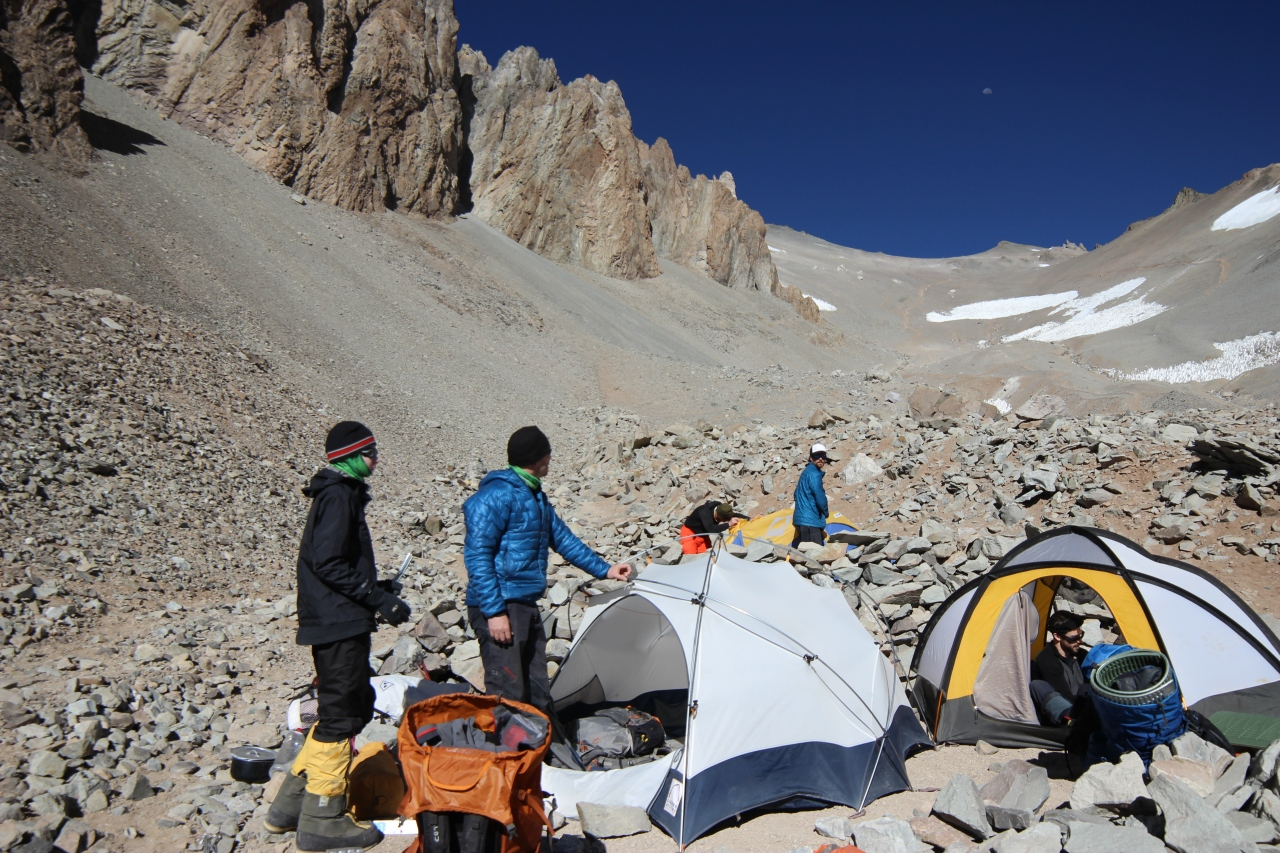 Aconcagua Base Camp to Camp 3